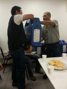 Felices estaban los ganadores de las mochilas en Concepción