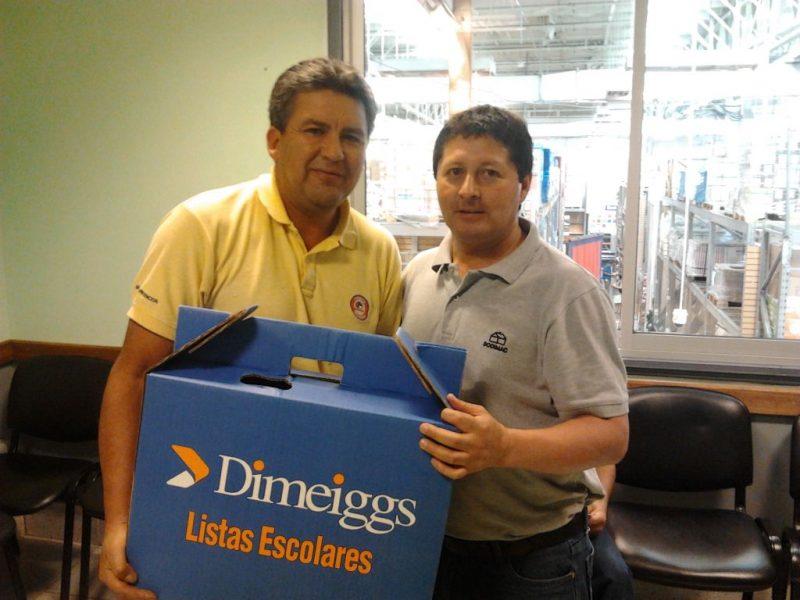 Así recibieron las mochilas 2015 en la tienda Homecenter Villarrica