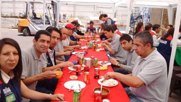 Con asado Las Condes celebró Agosto sin accidentes
