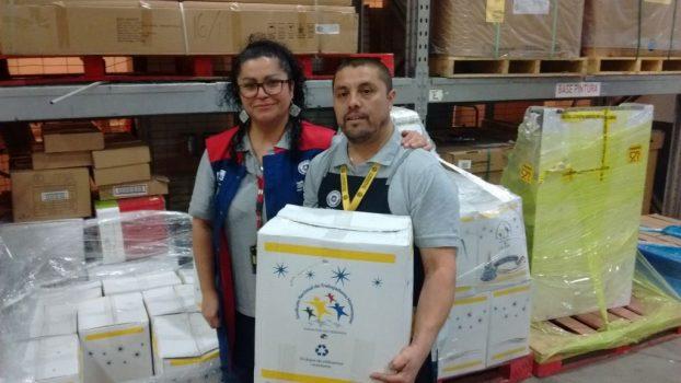 Tienda HC Bio Bio comenzó entrega de cajas navideñas