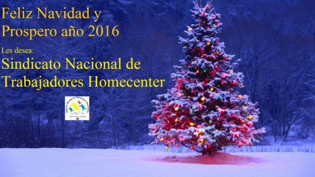 El Sindicato Homecenter les desea una Feliz Navidad y un Próspero 2016