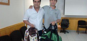 Felices quedaron los socios de San Bernardo con sus mochilas 2016