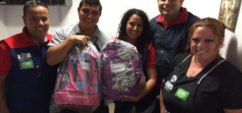 Felices recibieron sus mochilas los socios de Arica