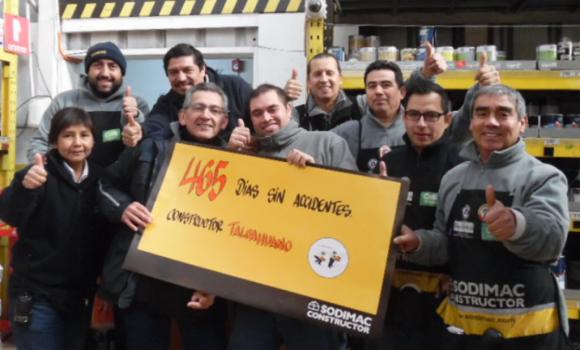 CONSTRUCTOR TALCAHUANO CUMPLIÓ 465 DÍAS SIN ACCIDENTES DE TRABAJO