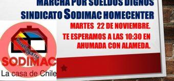 MÁS DE MIL TRABAJADORES DEL SINDICATO SODIMAC HOMECENTER MARCHARÁN ESTE MARTES EN PLENO CENTRO DE SANTIAGO
